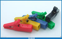 10PCS 5 Color HV 55MM Alligator Clip For 4mm Banana Plug Multimeter Probes Cable
