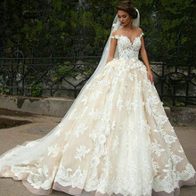 kejiadian Short Sleeve Wedding Dresses gown court train