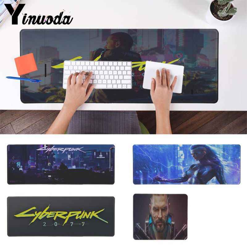 Yinuoda Cool New CYBERPUNK 2077 Locking Edge Mouse Pad Game Free Shipping Large Mouse Pad Keyboards Mat for lol
