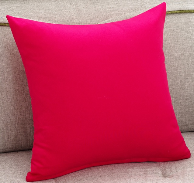 Hot Pink Cushion Covers Solid Candy Color Decorative Pillow Custom Cheap Toss Pillow Covers