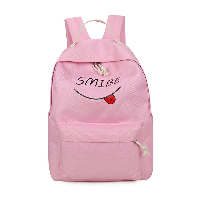 Candy color children backpack Fresh pink school backpack for teenage girls Preppy style light color travel and leisure backpack primary school students school bag 3 6 candy color preppy style backpack