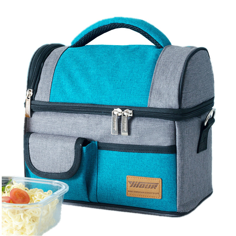 Thicker Double layer Insulated Cooler Bag Women Shoulder Thermal Lunch Tote Weekend Travel Picnic Bento Box Food Storage Pouch shoulder lunch bag tote women kids thermal insulated cooler storage picnic food drink bento box accessory supply products stuff