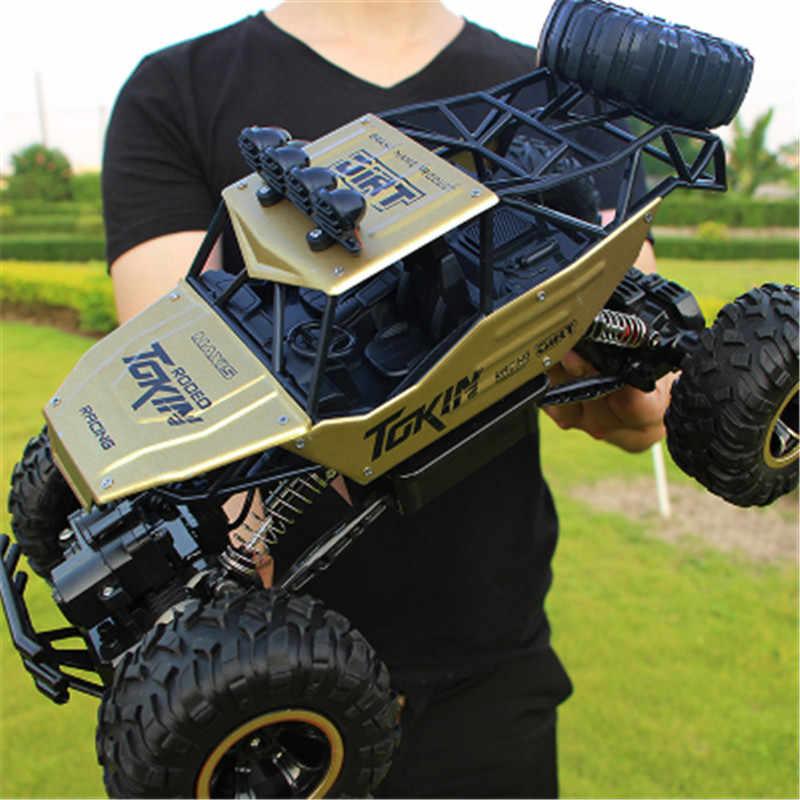 1/12 RC Mobil 4WD Mendaki Mobil 4X4 Motor Ganda Drive Bigfoot Mobil Remote Control Model Off-Road kendaraan Mainan untuk Anak Laki-laki Anak-anak Hadiah