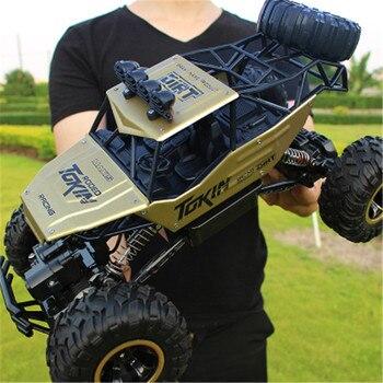 1/12 RC coche 4WD escalada coche 4x4 Doble motores conducir Bigfoot coche Control remoto modelo todoterreno vehículos juguetes para niños regalo