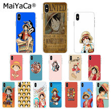 MaiYaCa Monkey D Luffy One Piece Soft Rubber black Phone Case for Apple iPhone 8 7 6 6S Plus X XS MAX 5 5S SE XR Mobile Cases(China)