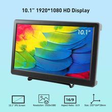 Elecrow 10.1 นิ้วจอแสดงผล LED HD 1920X1080p IPS Raspberry Pi 4B + HDMI FPV ลำโพงวิดีโอสำหรับ Xbox ระบบ Windows