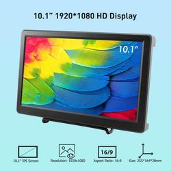 Elecrow 10,1 pulgadas HD pantalla LED 1920X1080p IPS Raspberry Pi 4B + Monitor HDMI vídeo FPV altavoces pantalla para Xbox de sistema de Windows.