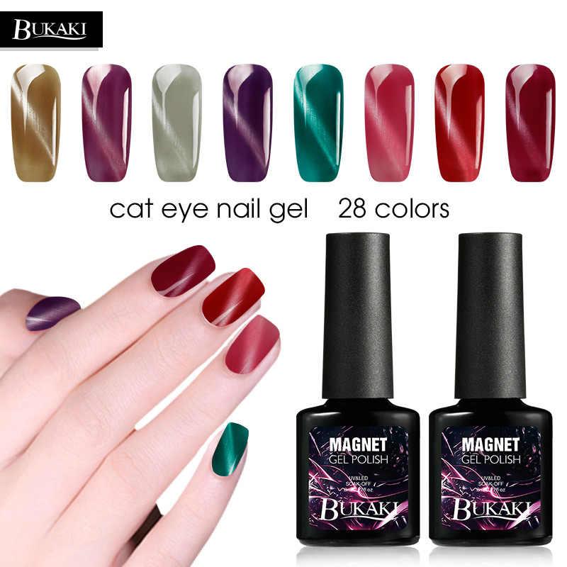 BUKAKI brillo ojo de gato UV Gel barniz camaleón esmalte de uñas Semi permanente Gel magnético UV LED esmalte de pintura laca