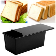 Антипригарное покрытие прямоугольный для хлеба буханка кондитерских изделий торт жестяная коробка разработанный со скользящей крышкой кухня выпечки сложенные края сковорода формы для выпечки
