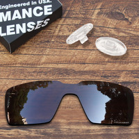 ToughAsNails Resist Seawater Corrosion Brown Polarized Replacement Lens and Clear Nose Pads for Oakley Probation Sungalsses