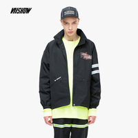 SIMWOOD 2018 Autumn New Windbreaker Jacket Men Fashion Male Clothing Black bomberJacket High Quality Jackets and Coat JC2389183