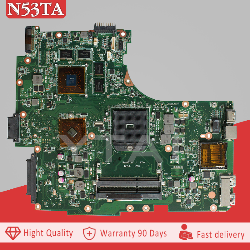 YTAI N53TA REv:2.0 mainboard For ASUS N53TA N53TK N53T laptop motherboard REV2.0 USB 3.0 DDR3 socket FS1 mainboard fully tested ytai nx90jn rev2 0 mainboard for asus nx90jn nx90jq laptop motherboard hm55 rev 2 0 3 ddr3 ram slots 8 pcs memory card mainboard