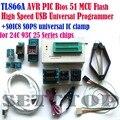 Programador TL866a 7 adaptadores + IC clipe de alta velocidade TL866 PLCC AVR PIC Bios 51 MCU EPROM Flash programador russo inglês manual