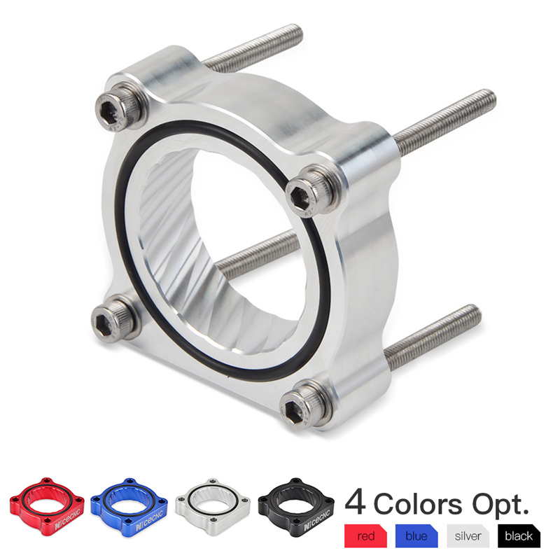 THROTTLE BODY SPACER  for 2013 to 2017 HONDA ACCORD 2.4L Billlet Aluminum RED