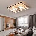 Новые креативные квадратные современные светодиодные потолочные лампы для гостиной  спальни  ресторана  дома  в помещении  алюминиевые све...