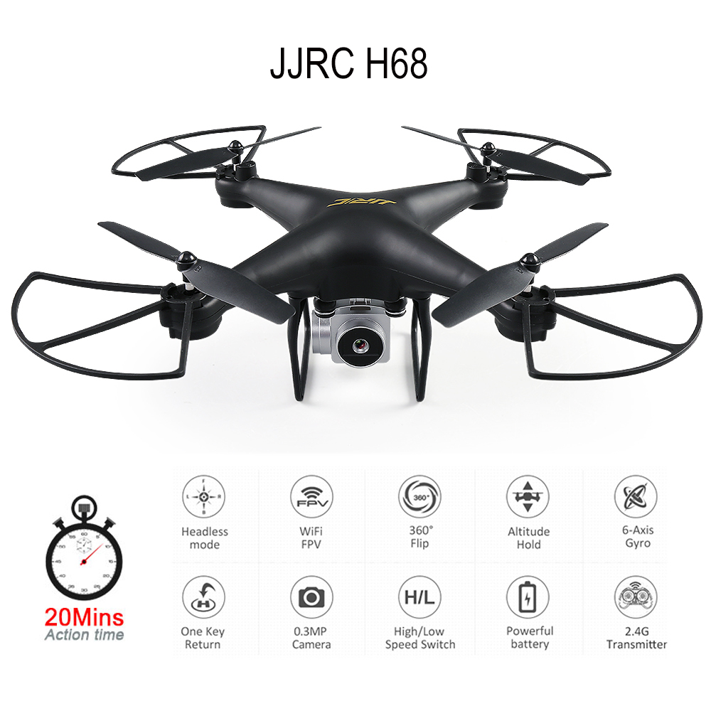JJRC H68 RC Drone with Camera 720P Altitude Hold Quadrocopter Headless RC Helicopter Quadcopter with Camera