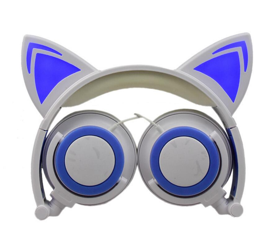 3.5MM plug 1.5M wire Sports Walkman Headphones Children Cute Cat Ear Adult Cosplay Earphone Protection 0 Compression colorful