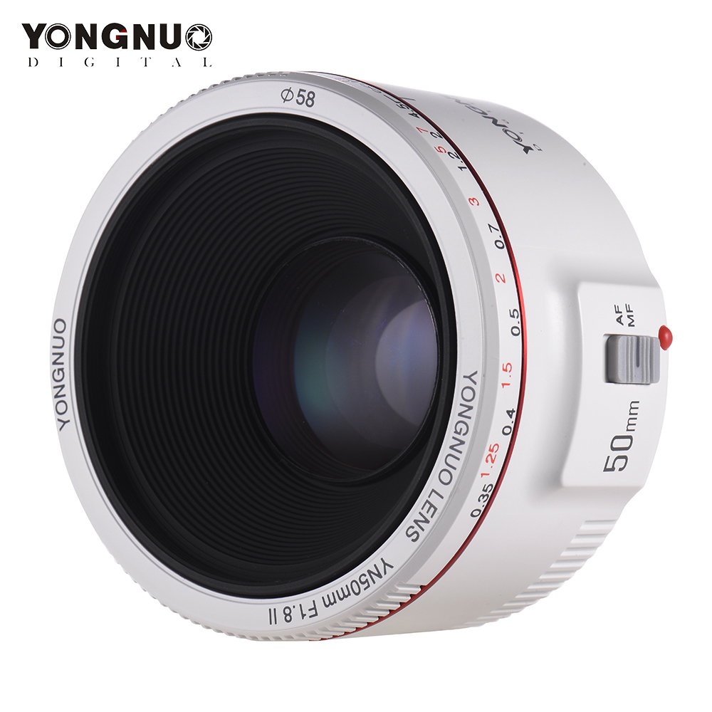 YONGNUO YN50mm F1 8 II Lens Standard Prime Lens Large Aperture Auto Focus Camera Lens for