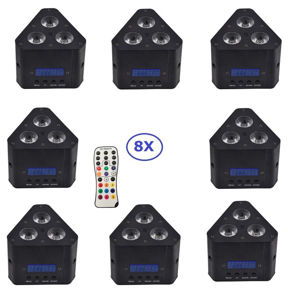 New Design 8XLot 3X4W RGBW 4 Colors Mini LED Corner Light With Remote Control Black Case Triangle Shape Stage Dj Shows Equipment автоинструменты new design autocom cdp 2014 2 3in1 led ds150