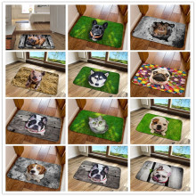 Unny передний коврик у входной двери 3D Животные Собаки напольные ковры для гостиной спальни Нескользящие кухонные коврики