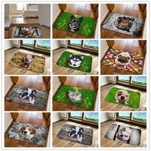 Unny frente porta de entrada tapete 3d animais tapetes do assoalho do cão para sala de estar quarto antiderrapante tapetes de cozinha