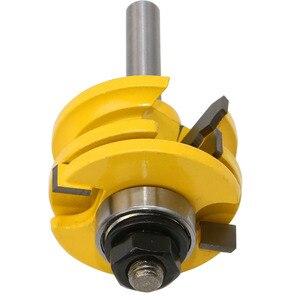 Image 5 - 1 Pc 8mm Schaft Glas Tür Schiene & Stile Reversible Router Bit Holz Schneiden Werkzeug holzbearbeitung router bits