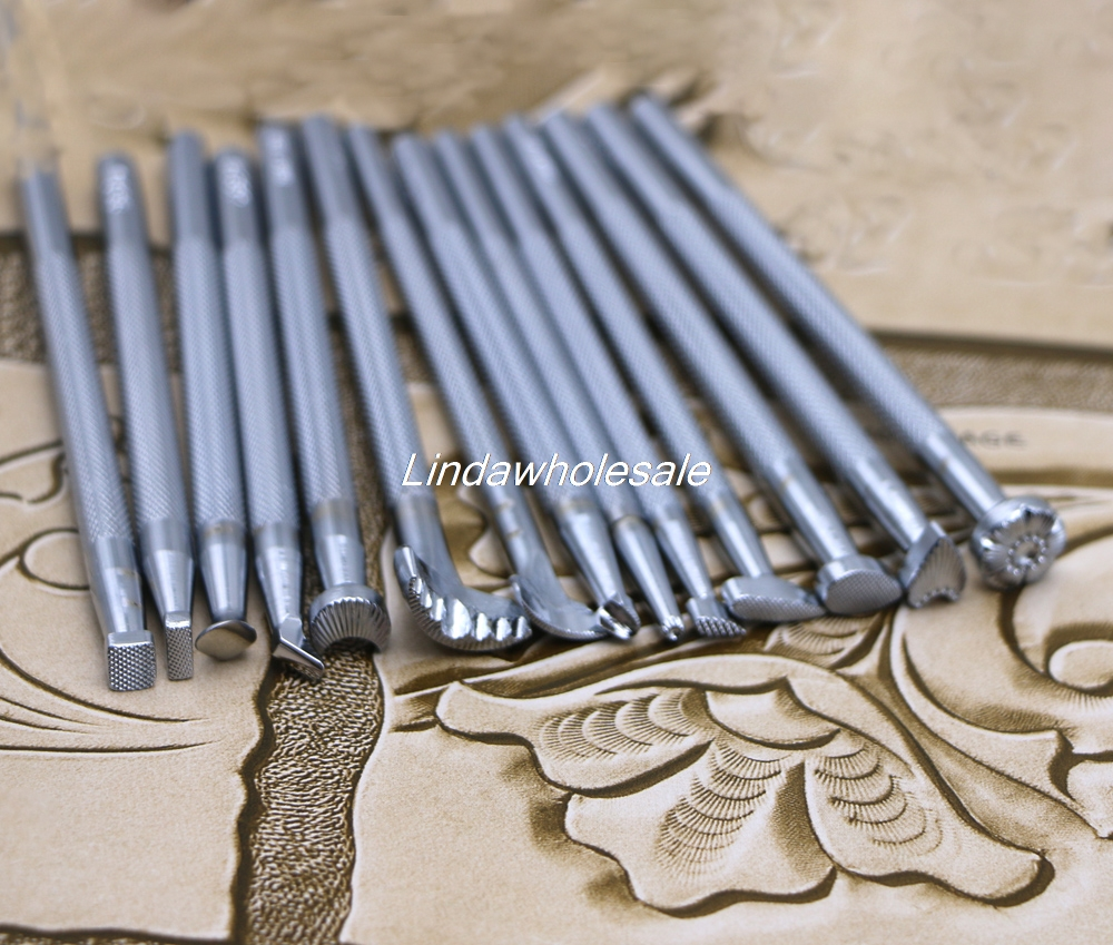 Leather carving tool 14 piece set leather printing tool leather stamp