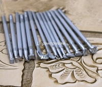 Leather carving tool, 14 piece set leather printing tool,leather stamp