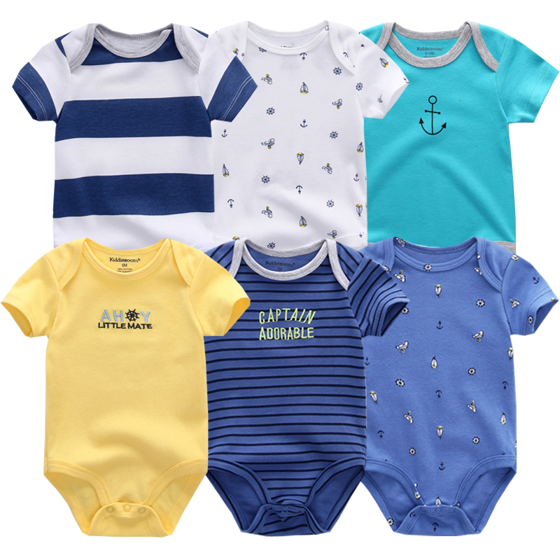 2019 Unisex Baby Clothes Newborn Bodysuit Roupas Bebe Girl Boy Costumes Baby Clothing Set Summer Short Sleeve Infant Pajamas