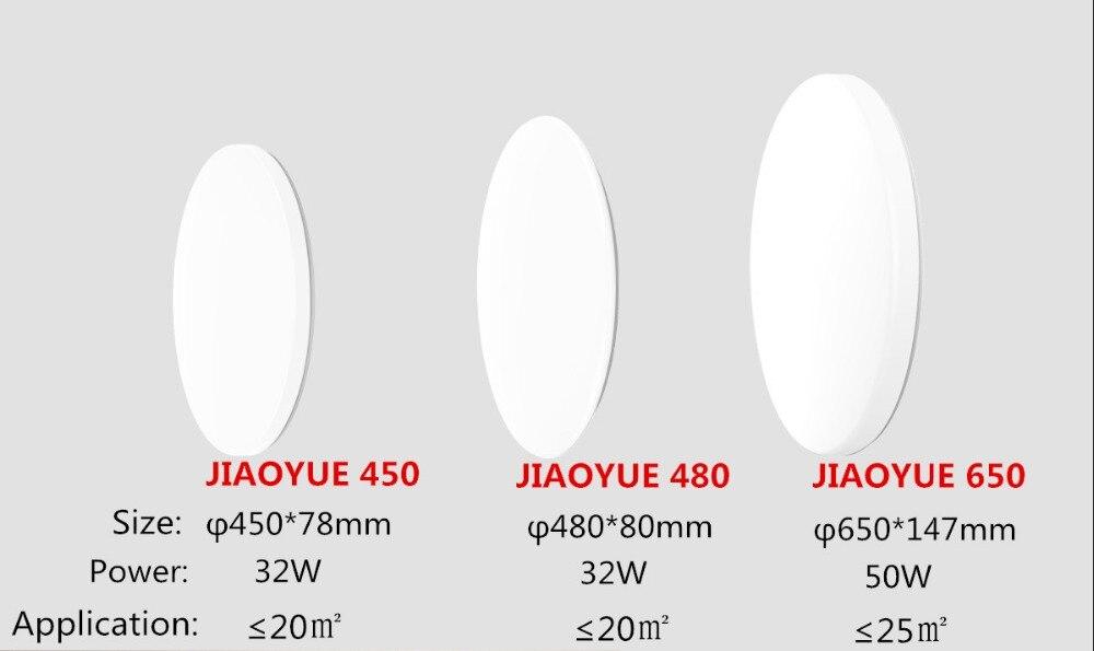 HTB16u4uXcfrK1Rjy1Xdq6yemFXag Yeelight JIAOYUE 480 Smart LED Ceiling Light With Remote Control Intelligent Lighting 200-240V 480x480x80mm Support Mijia APP