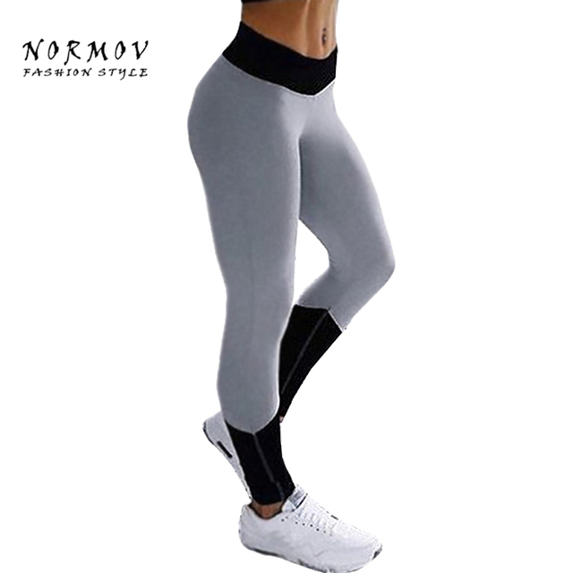 298181c9f220f4 NORMOV Women's Workout Leggings Fashion Patchwork High Waist Sportswear Jeggings  Leggings Bodybuilder Ankle Length Leggings Wome