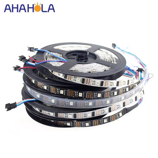 5 m WS2801 Led bande, adressable WS2801 rgb 32 led tv Ambilight, 5 v WS2801 bande framboise Pi Arduino contrôle blanc ou noir PCB