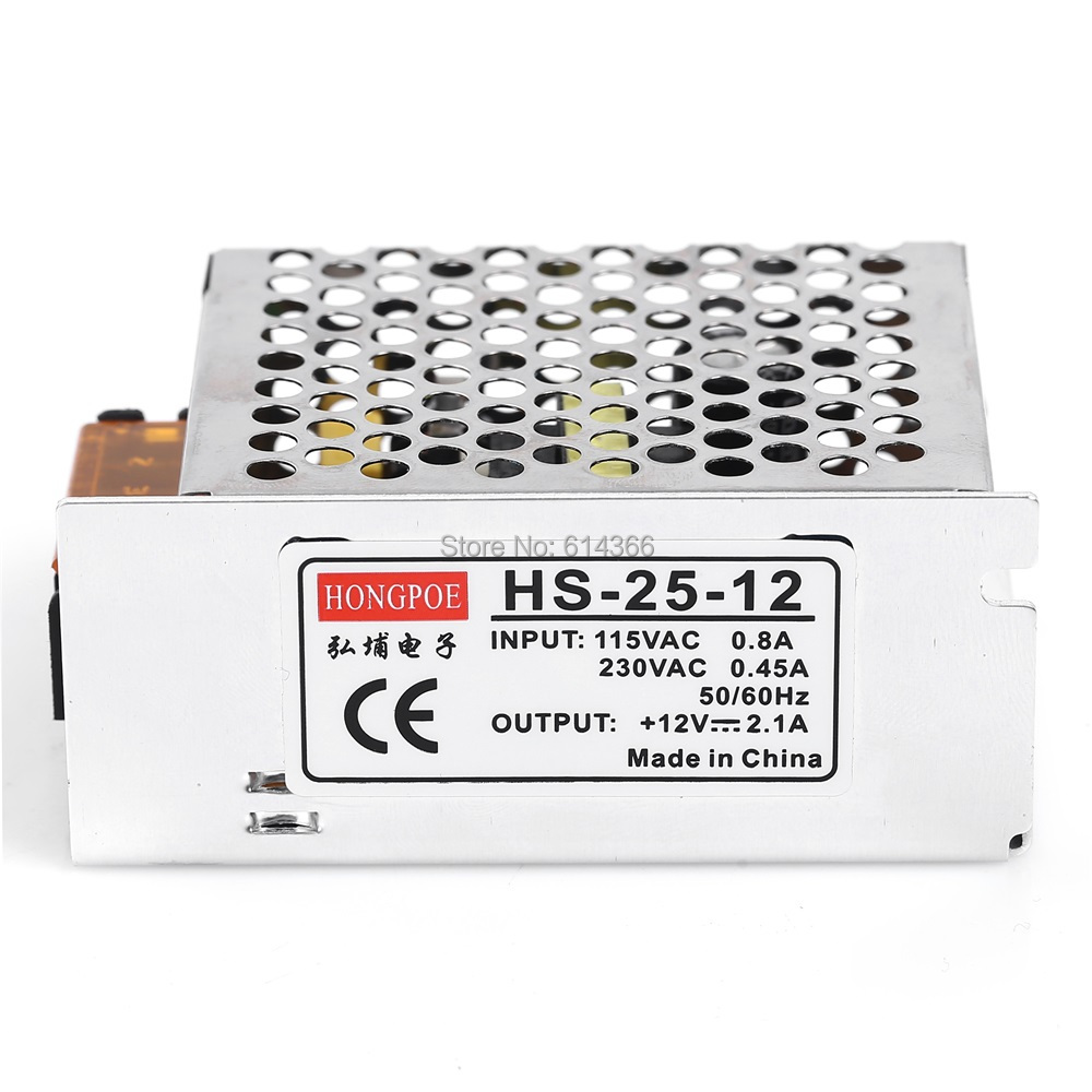 50 PCS 12V 2A 25W Switching Power Supply 12V Driver for LED Strip AC 100-240V Input to DC 12V Power Supply 90w led driver dc40v 2 7a high power led driver for flood light street light ip65 constant current drive power supply