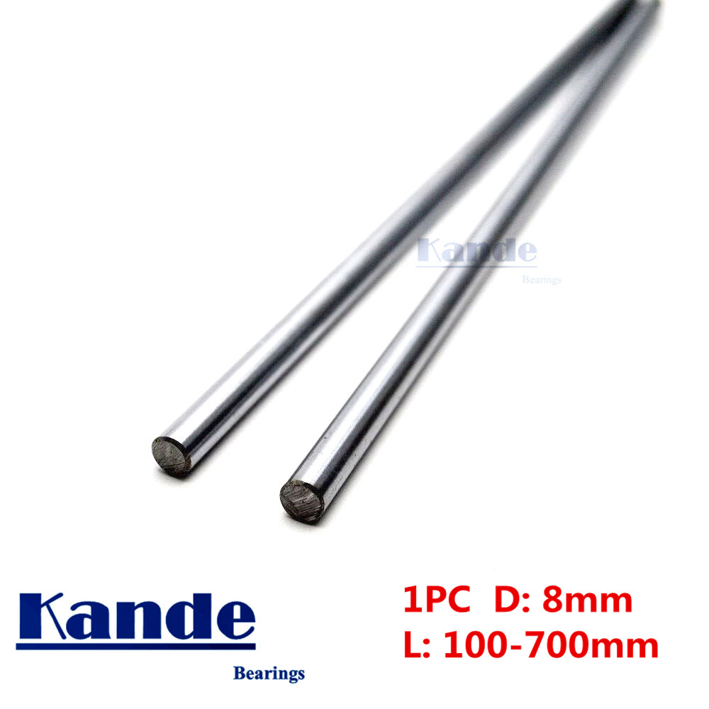 Kande Bearings 1pc d: 8mm 3D printer rod shaft 8mm linear shaft chrome plated rod shaft CNC parts 100mm 100 - 600mm kande bearings 1pc d 16mm 3d printer rod shaft 16mm linear shaft 230mm chrome plated rod shaft cnc parts 100 700mm