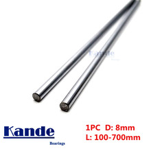 Kande Bearings 1pc d: 8mm  3D printer rod shaft 8mm  linear shaft chrome plated rod shaft CNC parts  100mm 100 - 600mm 1pc linear shaft optical axis bearing steel outer diameter 8mm x length 300mm for cnc parts