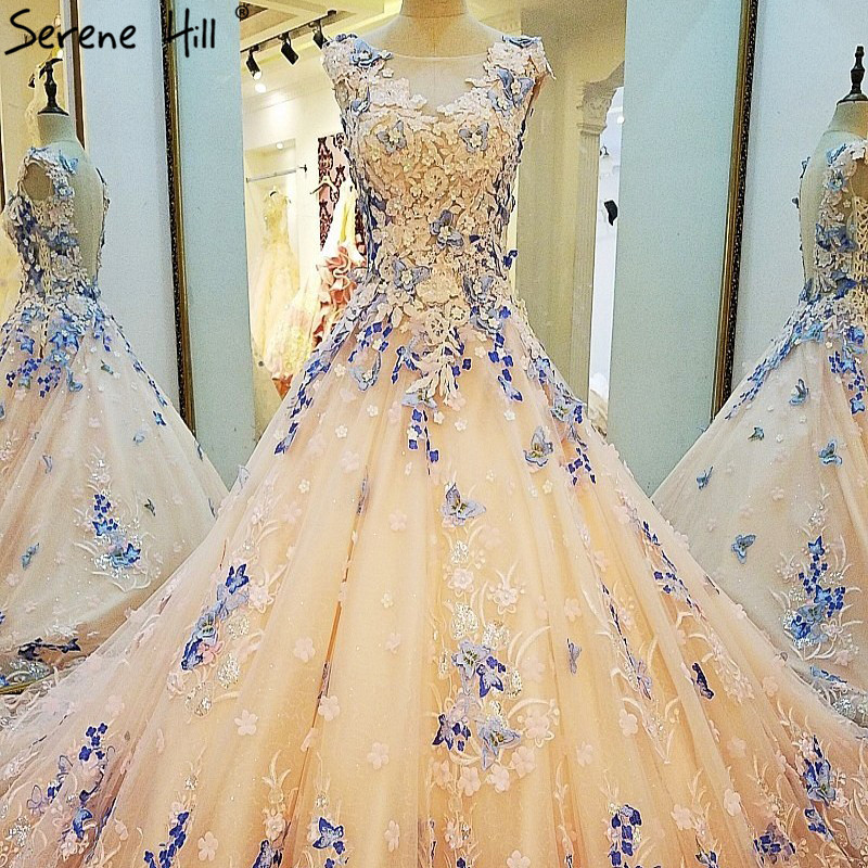 Ärmel Farbige Brautkleider Schmetterling Perlen Luxus Zug Brautkleid ...