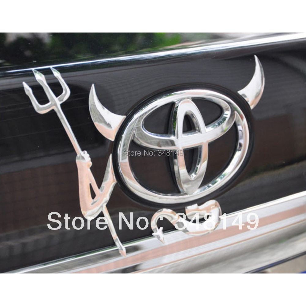 Car-Styling Funny 3D Car Stickers PVC Devil  tail logo stickers for Volkswagen Skoda Nissan Benz Toyota Chevrolet Cruze