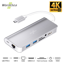 USB Type C HUB Audio With 4K HDMI RJ45 3.5mm SD Card Charging Dex Station For Samsung Galaxy S8 S9 Nintendo Switch MacBook Pro все цены