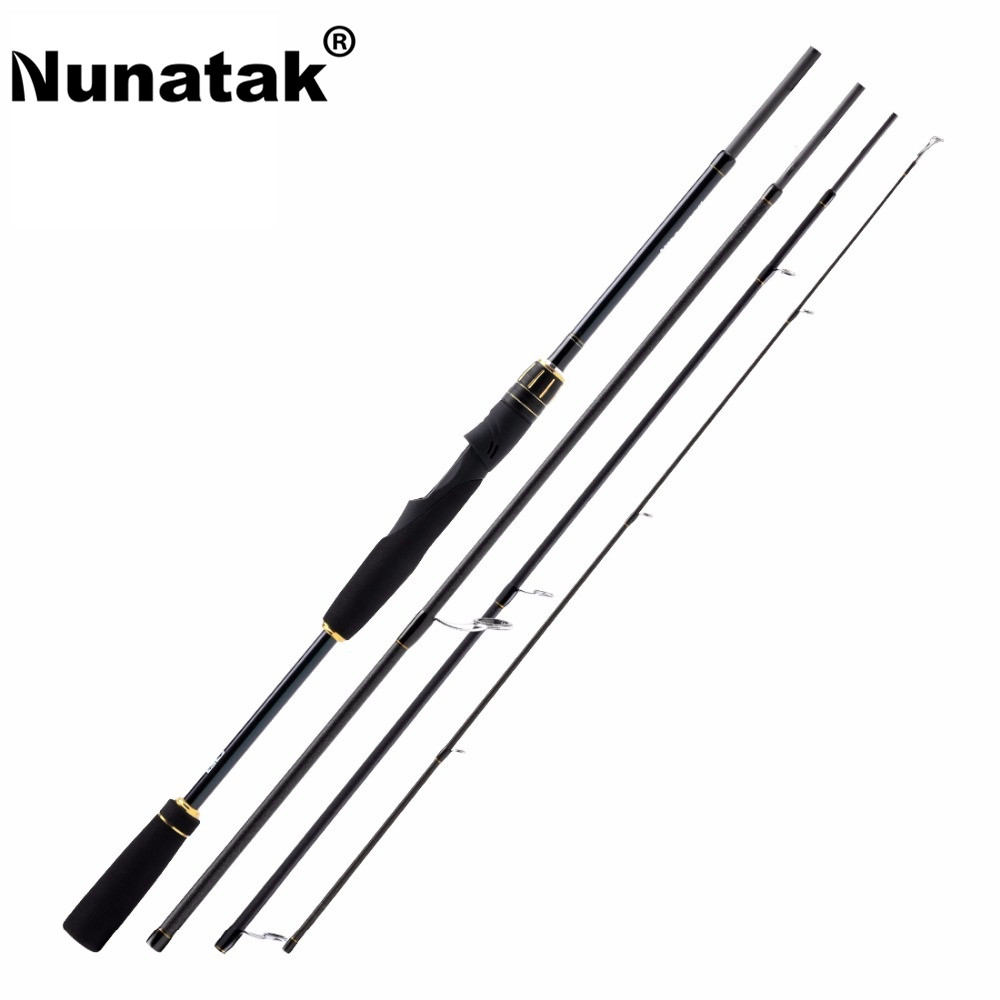 Nunatak SCEPTER Carbon Fiber Spinning Lure 2.1M/2.4M 4 Sections M Lure Rod 10-30g Travel Rod Lure Fishing Tackle 2017 new 704 m fishing rod lure 2 1 m 4 sections m power carbon fiber spinning casting fishing travel rod 12 25lb 10 30g
