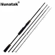 Sale Nunatak  SCEPTER Carbon Fiber Spinning Lure 2.1M/2.4M 4 Sections M Lure Rod 10-30g Travel Rod Lure Fishing Tackle