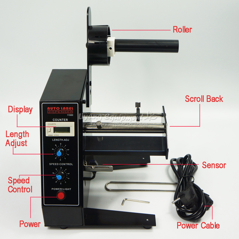 AL 1150D Automatic Label Dispenser AL1150D Machine Device Sticker-in Power Tool Accessories from Tools    2