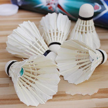 6 Pcs/Set Badminton Shuttlecocks Goose Feather Badminton Balls Outdoor Sports Badminton Accessories Durable Badminton(China)