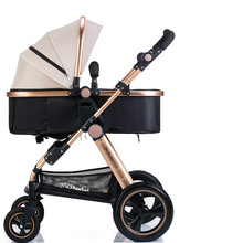 High Baby Stroller Shockproof Folding Luxury Strollers High Landscape Baby Pushchair 3 in 1 Aluminum Alloy Portable Baby Cart
