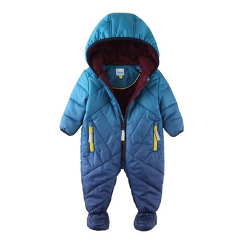 цена на Mingkids Baby Snowsuit Infant Boy Rompers Ski Jumpsuit Outdoor Winter Warm Thicken Snow Suit for boys fleece padded