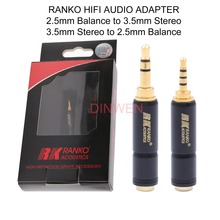 RANKO 2.5mm Balance to 3.5mm Stereo Adapter Connector Headphone Plug Converter for Hifi Audio Mobile Phone MP3 MP4 Music Player