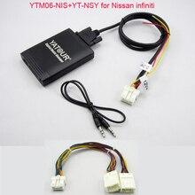 Yatour USB MP3 AUX SD плеер для Nissan, Infiniti FX35 стерео радио с навигацией Функция включают YT-NSY Y Кабель-адаптер