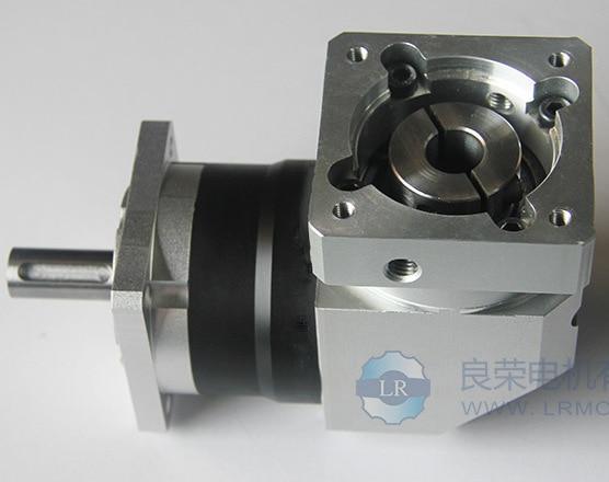 LRZF90 1:10 shaft 19mm hole 20mm 90 servo motor right angle planetary reducer   steel gear box gearhead 10 1 square 8mm shaft 7 5mm base hole speed control gearhead reducer