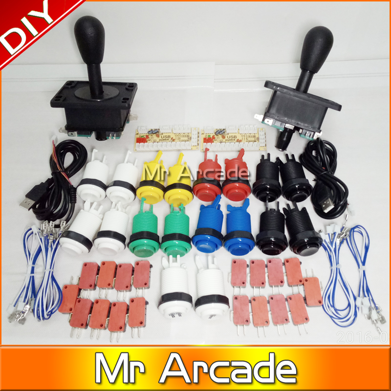 Mr Arcade Game DIY Parts for Mame USB Zero Delay USB Encoder 8 Way Classic Arcade Joystick Classic Arcade Push Button герои и злодеи