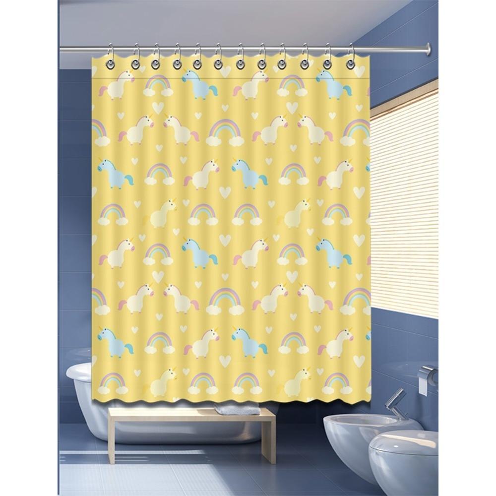 Rainbow Mandala Shower Curtain Fabric Bathroom Decor Set with Hooks 4 Sizes