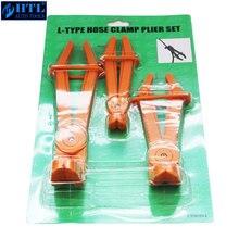 3pc ângulo braçadeira de mangueira alicate/L TYPE braçadeira de mangueira alicate conjunto automotivo mangueira braçadeira de vedação de óleo alicate